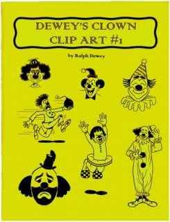 Deweys Clown Clip Art #1 (Magic & Clown)