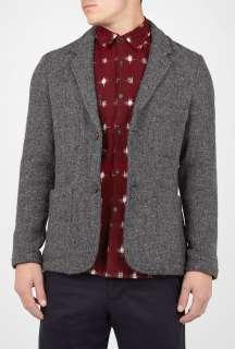 Universal Works  Grey Harris Tweed Suit Blazer by Universal Works