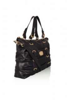 Black Ruched Gansevoort Tote by MICHAEL Michael Kors   Black   Buy