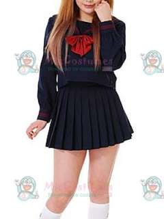 Long Sleeves Cravat School Uniform