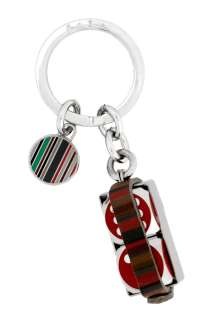 Paul Smith Accessories  Red Dice Leather Keyring by Paul Smith