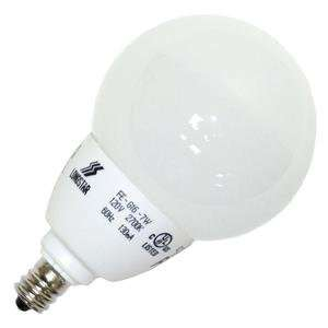 FE G16 7W/27K E12 Globe Screw Base Compact Fluorescent Light Bulb