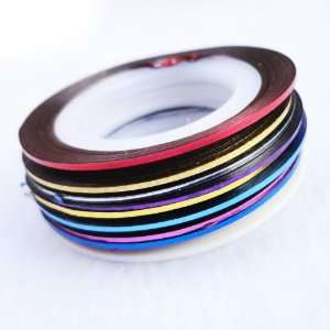 10 Color Striping Tape Line Nail Art Decoration Sticker Beauty