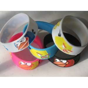 Angry Birds Silicone Rubber Bracelet 5 Color Packs