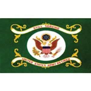 United States Army Retired Flag 3ft x 5ft Patio, Lawn