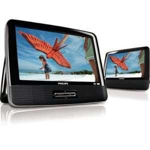 /37 9 Inch LCD Dual Screen Portable DVD Player, Black Electronics