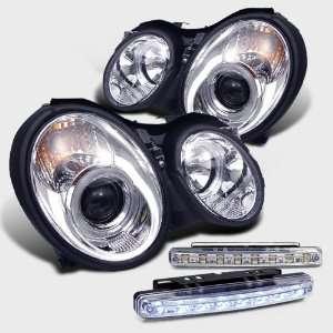 SLK Halo Projector Head Light+led Fog Bumper Lamp Pair Set Automotive