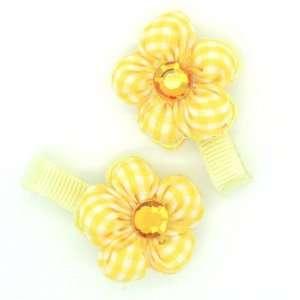 (Yellow) Baby/ Toddler /Girl Flower Shaped Mini Hair Clip
