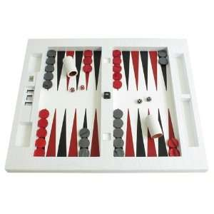 Leather Table Top Backgammon Set   (26 Extra Large Board
