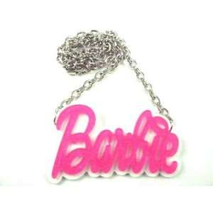 NEW NICKI MINAJ BARBIE Pink Glittere Pendant W/Chain M Pink Jewelry