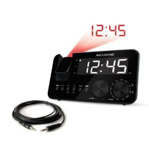 AM/FM Projection Clock Radio with WakeUp! Battery Backup Alarm