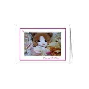 Girls Birthday Pink Ribbon Kitty Toy Card Toys & Games