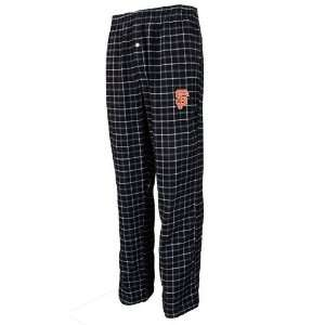 San Francisco Giants Black Plaid Gridiron Flannel Pants