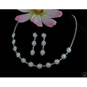 Bridal Wedding Prom Bridesmaid Jewelry Jewellery Necklace Earring Set