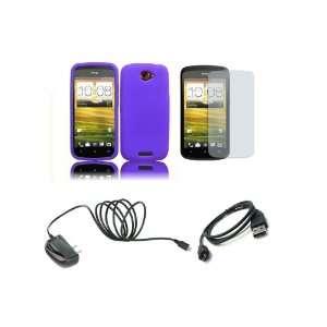 Mobile) Premium Combo Pack   Purple Silicone Soft Skin Case Cover
