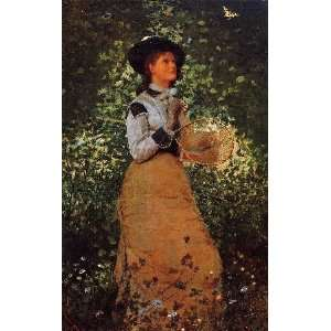 The Butterfly Girl, By Homer Winslow