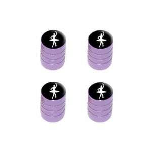 Ballet Ballerina   Tire Rim Wheel Valve Stem Caps   Purple Automotive