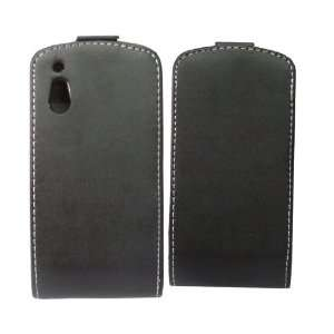 Mobile Palace  Black (Faux) leather Quality flip case cover pouch and