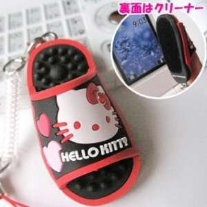 Kitty Mini Sandal Puppet Cleaner Cell Phone Charm (Red) Electronics