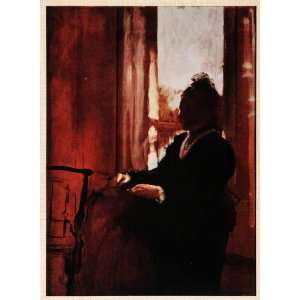 Tipped In Print Woman Window Chair Shadow Sitting Sillouette Curtains