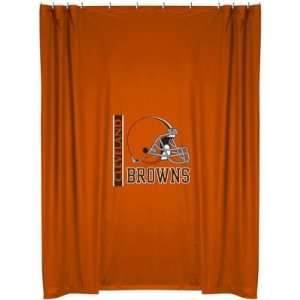 CLEVELAND BROWNS OFFICIAL TEAM JERSEY SHOWER CURTAIN
