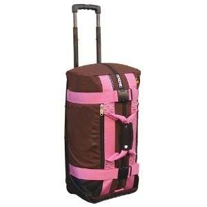 New Club Glove Mini Rolling Duffle Travel Bag Mocha/Pnk