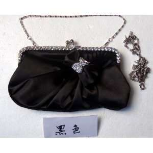 Purse Mini Bag Wedding Clutch Holiday Birthday Gift Sil0072 black