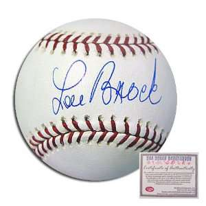 Lou Brock St Louis Cardinals MLB Hand Signed Rawlings MLB Baseball