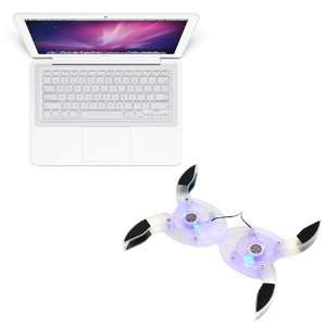 Fan 4 Blue LED + Clear Silicone Skin Keyboard Cover for Laptop