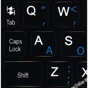 keyboard stickers Black background for mini laptop