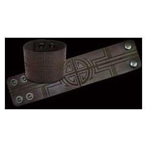 Celtic Cross Brown Leather Cuff Bico Bracelet Home & Kitchen