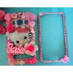 BEAUTIFUL Hello Kitty & Barbie Pink Crystal HTC EVO 4g