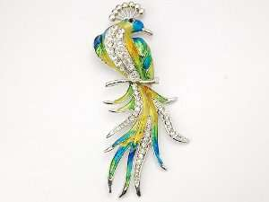 Color Enamel Clear Crystal Rhinestones Pin Brooch Jewelry