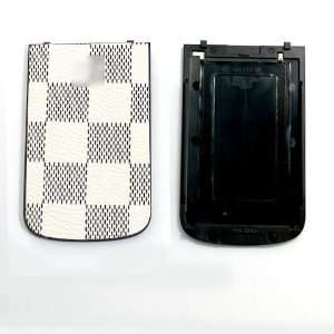 Check Checker Grid Pattern Design Back Door Plate Panel Cover Panel