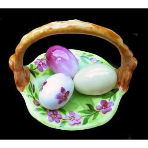 Easter Basket &Colorful Eggs Rochard French Limoges Box