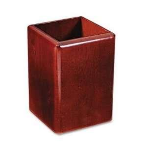 o Rolodex o   Wood Tones Jumbo Wood Pencil Cup, Mahogany