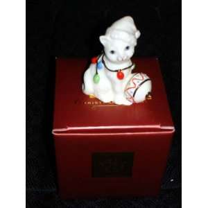 Lenox Christmas Delight Kitty Figurine