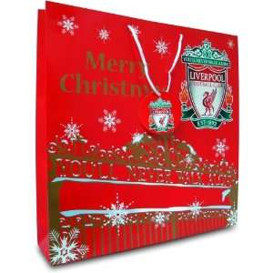 Liverpool Fc Football Paper Gift Bag Official Christmas