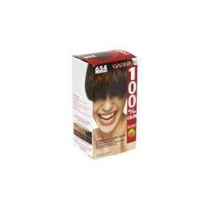 GARNIER 100% Color   Pure Brilliant # 654 Light Coppery Mahogany Brown