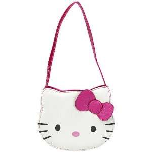 Hello Kitty Handbag   White with Hot Pink Bow Everything