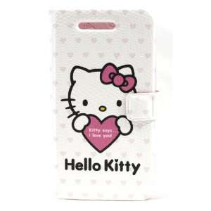 Hello Kitty I Love You Book Style Pouch for Apple Iphone 4