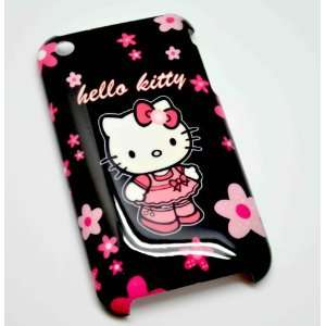 com Hello Kitty black rock style hard case for iphone 4 Cell Phones