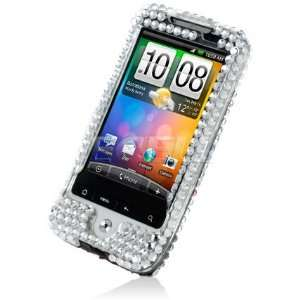 CLEAR FLORAL 3D CRYSTAL BLING CASE FOR HTC LEGEND G6 Electronics