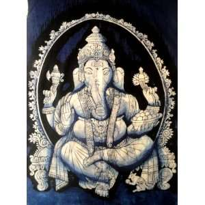 Indian Elephant Face God Lord Ganesh Ganesha Cotton Fabric