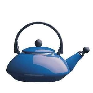 Le Creuset Zen Teakettle with Republic of Tea Cobalt Blue