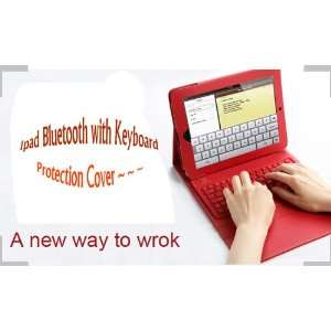 Wireless Bluetooth Keyboard Leather Case with Stand Keyboard