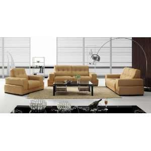 BO3911 Modern Light Brown Leather Sofa Set