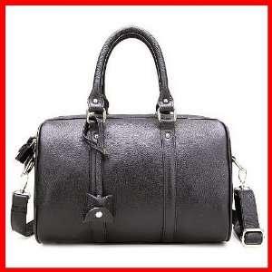 100% Genuine Leather Purse Handbag Shoulder Boston Duffel Bag Tote