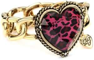 Fuchsia Leopard Fuchsia Leopard Heart Stretch Bracelet Jewelry