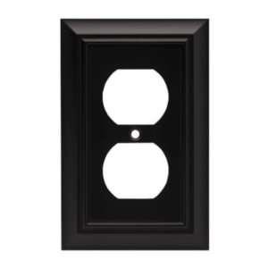 Liberty Hardware 64218 Flat Black Casual Beveled Edge Single Duplex